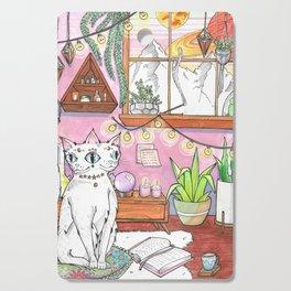 Gemini cat Cutting Board