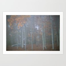 The autumn canoe Art Print