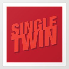 Single Twin Art Print