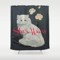 starwars Shower Curtains featuring Wilco - StarWars by NICEALB