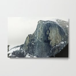 Snow Cap Half Dome Metal Print