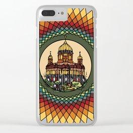 building mandala palace Clear iPhone Case