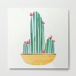 Tiny Cactus Blossoms Metal Print