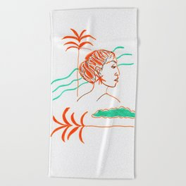 Yearning for summer Beach Towel