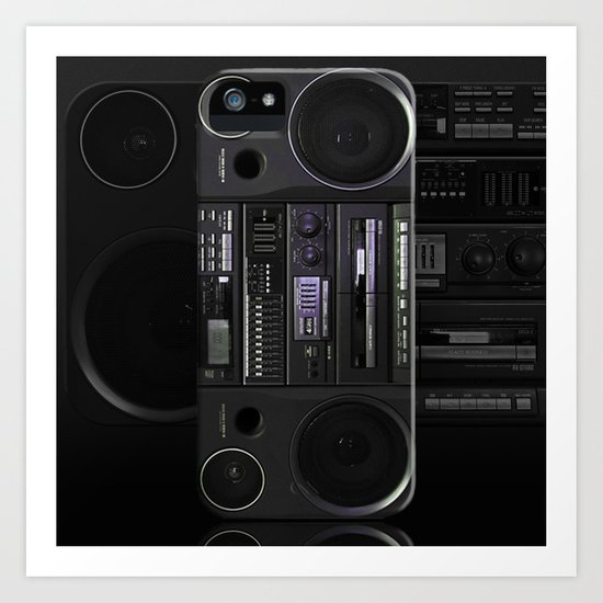 Boombox iPhone5 case (follow link below for iPhone4) Art Print