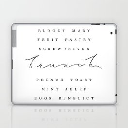Brunch Typography • Script and Breakfast List Laptop & iPad Skin