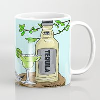 tequila Mugs featuring Tequila Mockingbird by Emmalene Blake