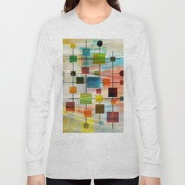 Mid-Century Modern Art 1.3 -  Graffiti Style Long Sleeve T-shirt