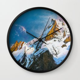 """Oil painting """"Mountain"""" Wall Clock"""