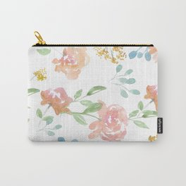 Mustard Floral Pattern Carry-All Pouch