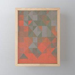 Faceted Vibes Framed Mini Art Print