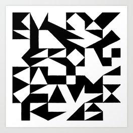 English Square (Black & White) Art Print