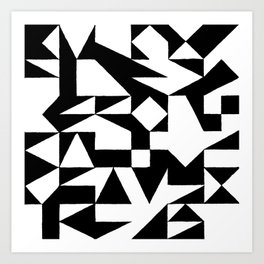 English Square (Black & White) Art Print