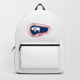 Wyoming Flag Climbing Carabiner Backpack