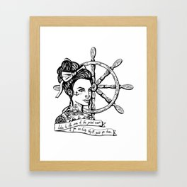 Sailor Woman Framed Art Print