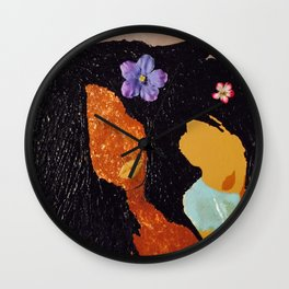 Mom and daughter love Wall Clock