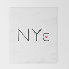 Heart NYC Throw Blanket