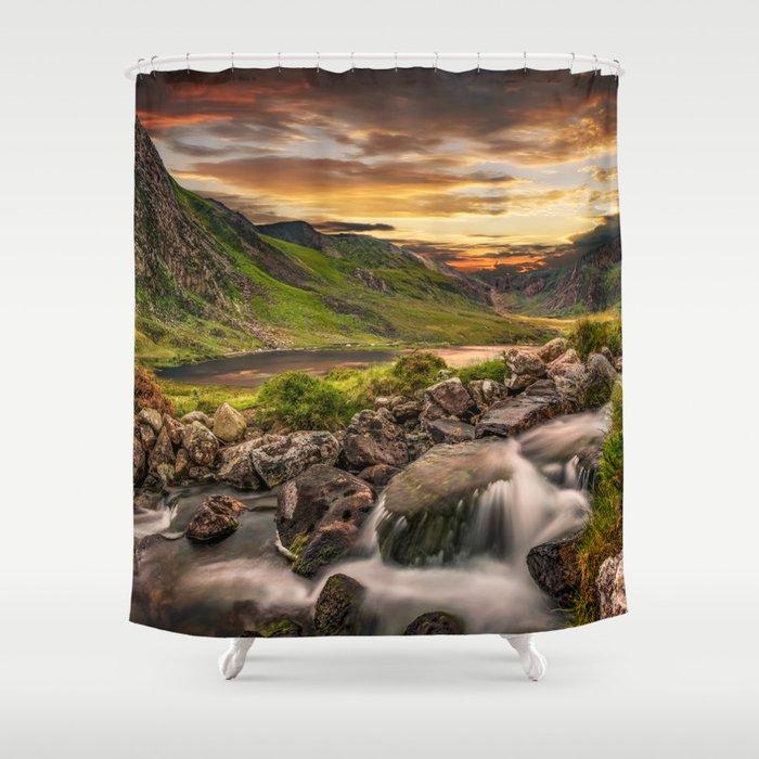 Tryfan and Llyn Ogwen Snowdonia Shower Curtain