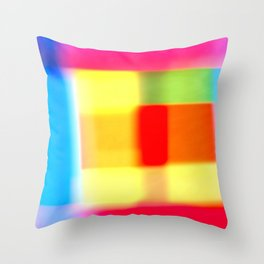 Colored blur background 7 Throw Pillow