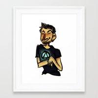 tony stark Framed Art Prints featuring Tony Stark by Brizy Eckert