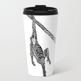 Swinging Chimpanzee Zentangle (abstract doodle) Travel Mug