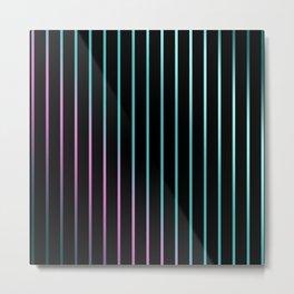 Rainbow . Striped rainbow pattern . Black background pattern Metal Print