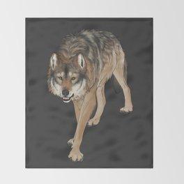 Wondering Wolf Throw Blanket