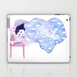 Birthday morning (with a glass of redcurrant juice) Laptop & iPad Skin