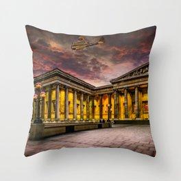 Bristol Blenheim Over The British Museum London Throw Pillow