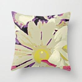 Dizzy Daisy Throw Pillow