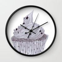 cupcake Wall Clocks featuring cupcake by Art_By_Sarah