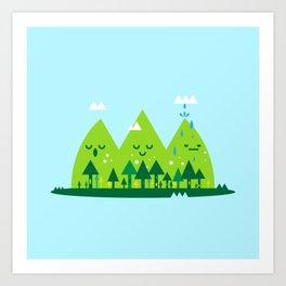 Monday Mountains Art Print