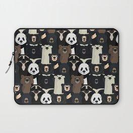 Bears of the world pattern Laptop Sleeve