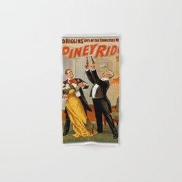 Vintage poster - At Piney Ridge Hand & Bath Towel