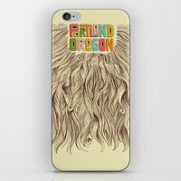 portland iPhone & iPod Skins featuring Portland = Beards by Rachel Caldwell