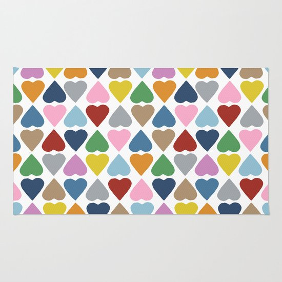 Diamond Hearts Repeat Rug