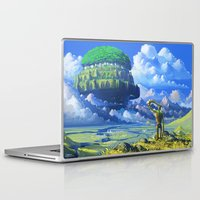 castle in the sky Laptop & iPad Skins featuring Castle in the sky by Roberto Nieto