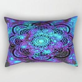 Mandala : Bright Violet & Teal Galaxy 2 Rectangular Pillow