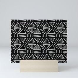 Mudcloth Black and White Mini Art Print