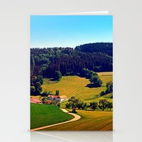 hiking Stationery Cards featuring Hiking through springtime scenery by Patrick Jobst