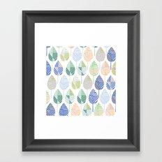 Geometric leaves Framed Art Print