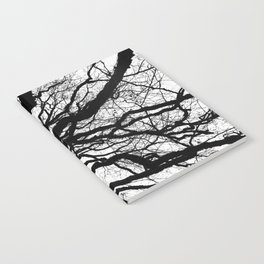 Tree forest wall art, trending minimalist Art, Minimalist, Black and White, Trees simple Notebook