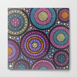 Dot Art Circles Pastels Metal Print