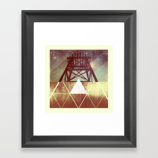 Elemental Framework Framed Art Print