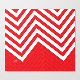 Red White Geometric #red #white #artdeco #fresh #summer #minimal #art #design #kirovair #geometric # Canvas Print