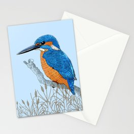 Kingfisher in reeds Stationery Cards