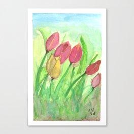 Tulipans (Watercolours) Canvas Print