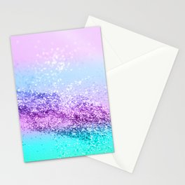 Unicorn Girls Glitter #14 #shiny #decor #art #society6 Stationery Cards