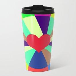 Listen To Your Heart Metal Travel Mug