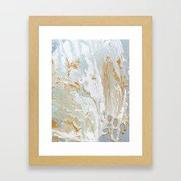Gold and shine Framed Art Print